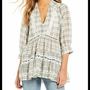 Free People time out lace tunic NWT